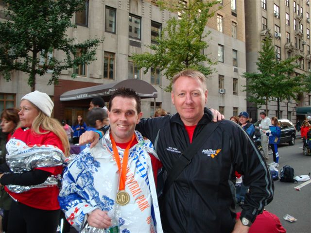 Mike and Martin after NY marathon 2009 photo. Click to enlarge